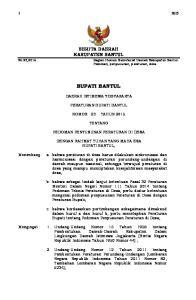 BERITA DAERAH KABUPATEN BANTUL. Bagian Hukum Sekretariat Daerah Kabupaten Bantul. Pedoman, penyusunan, peraturan, desa