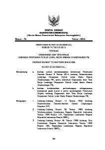 BERITA DAERAH KABUPATEN GUNUNGKIDUL ( Berita Resmi Pemerintah Kabupaten Gunungkidul ) Nomor : 75 Tahun : 2015