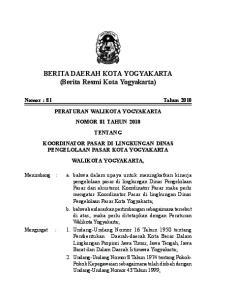 BERITA DAERAH KOTA YOGYAKARTA (Berita Resmi Kota Yogyakarta)
