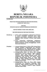 BERITA NEGARA REPUBLIK INDONESIA No.689,2012