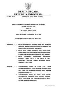 BERITA NEGARA REPUBLIK INDONESIA
