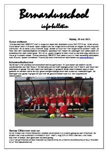 Bernardusschool info-bulletin