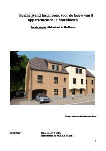 Beschrijvend lastenboek voor de bouw van 8 appartementen te Morkhoven
