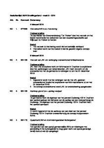 Besluitenlijst B&W Smallingerland - week Afd. Nr. Kenmerk Onderwerp. 4 februari BO Verzoekschrift m.b.t