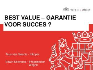 BEST VALUE GARANTIE VOOR SUCCES?