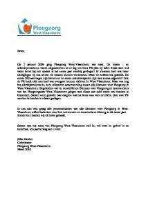 Beste, Samen met het team van Pleegzorg West-Vlaanderen stel ik, vol trots en geloof in de toekomst, ons jaarverslag aan u voor