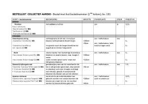 BESTELLIJST COLLECTIEF AARDIG - Bestel met het bestelnummer (1 ste kolom), bv. 101