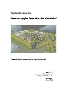 Bestemmingsplan Steenwijk De Meenthehof