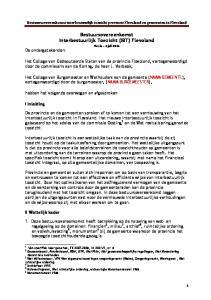 Bestuursovereenkomst Interbestuurlijk Toezicht (IBT) Flevoland Versie 4 juli 2014