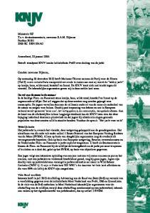 Betreft: standpunt KNJV inzake initiatiefnota PvdD over sluiting van de jacht