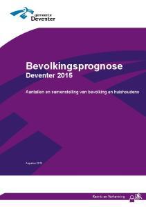 Bevolkingsprognose Deventer 2015