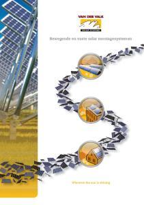 Bewegende en vaste solar montagesystemen