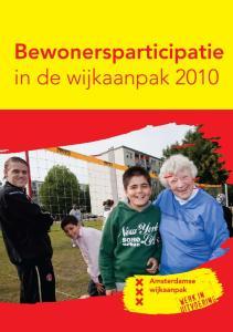 Bewonersparticipatie in de wijkaanpak 2010