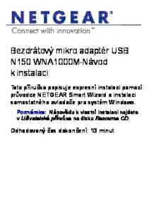 Bezdrátový mikro adaptér USB N150 WNA1000M-Návod k instalaci
