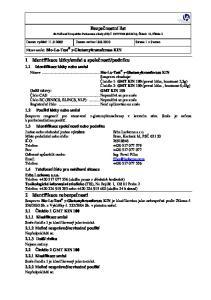 Bezpečnostní list. Datum vydání: Datum revize: Strana 1 z 9 stran