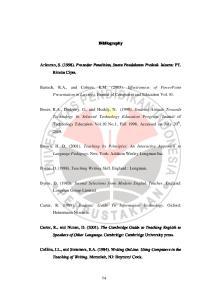 Bibliography. Arikunto, S. (1998). Prosedur Penelitian, Suatu Pendekatan Praktek. Jakarta: PT. Rineka Cipta