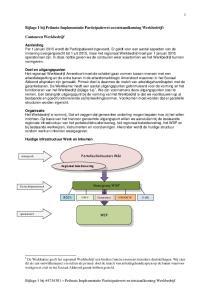Bijlage 1 bij Peilnota Implementatie Participatiewet en totstandkoming Werkbedrijf: