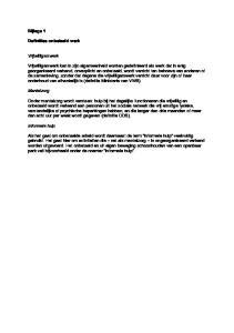 Bijlage 1. Definities onbetaald werk. Vrijwilligerswerk