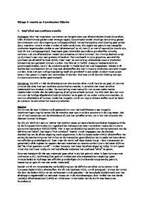 Bijlage 1: reactie op 6 puntenplan Dijkstra. 1. Geef afval een positieve waarde