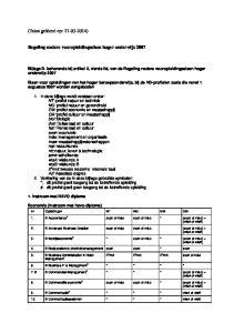 Bijlage D. behorende bij artikel 2, vierde lid, van de Regeling nadere vooropleidingseisen hoger onderwijs 2007