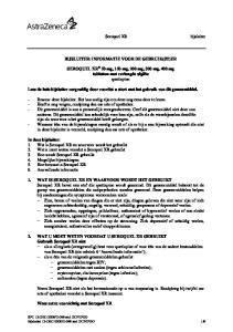 BIJSLUITER: INFORMATIE VOOR DE GEBRUIK(ST)ER. SEROQUEL XR 50 mg, 150 mg, 200 mg, 300 mg, 400 mg tabletten met verlengde afgifte quetiapine