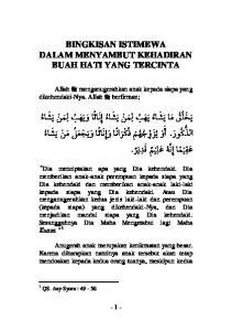 BINGKISAN ISTIMEWA DALAM MENYAMBUT KEHADIRAN BUAH HATI YANG TERCINTA