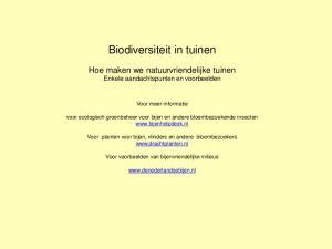 Biodiversiteit in tuinen