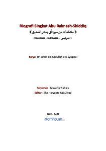 Biografi Singkat Abu Bakr ash-shiddiq