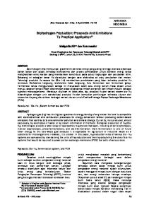 Biohydrogen Production: Prospects And Limitations To Practical Application *
