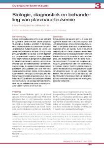 Biologie, diagnostiek en behandeling van plasmacelleukemie