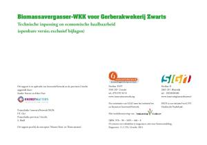 Biomassavergasser-WKK voor Gerberakwekerij Zwarts. Biomassavergasser-WKK voor Gerberakwekerij Zwarts