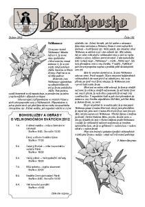 BOHOSLUŽBY A OBŘADY O VELIKONOČNÍCH SVÁTCÍCH Velikonoce. Duben 2012 Číslo 101