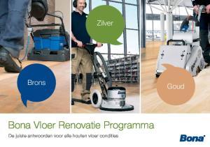 Bona Vloer Renovatie Programma
