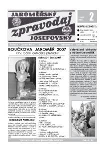 BOUČKOVA JAROMĚŘ 2007 XXV. ročník loutkářské přehlídky