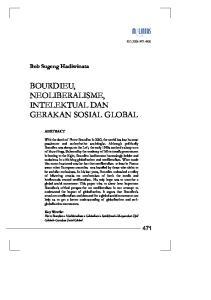 BOURDIEU, NEOLIBERALISME, INTELEKTUAL DAN GERAKAN SOSIAL GLOBAL