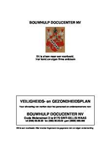 BOUWHULP DOCUCENTER NV Oude Molenstraat 3 te 9170 SINT-GILLIS-WAAS tel (000) fax (000) gsm (0000)