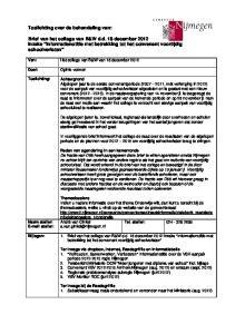 Brief van het college van B&W d.d. 18 december 2012 inzake Informatienotitie met betrekking tot het convenant voortijdig schoolverlaten