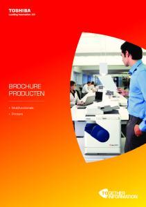 BROCHURE PRODUCTEN. Multifunctionals. Printers