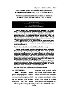 BUILDING RELIGIOUS GENERATION THROUGH WINNER SCHOLARSHIP PROGRAM IN ICD BUAH BATU BANDUNG CITY