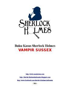 Buku Kasus Sherlock Holmes VAMPIR SUSSEX