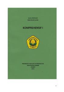 BUKU PANDUAN PRAKTIKUM KLINIK KOMPREHENSIF I