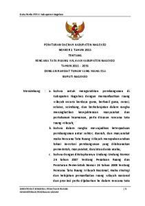 Buku Perda RTRW Kabupaten Nagekeo