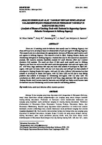 BULETIN PSP ISSN: X Volume XIX No. 1 Edisi April 2011 Hal 39-51