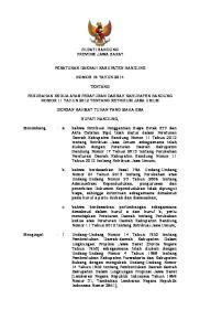 BUPATI BANDUNG PROVINSI JAWA BARAT PERATURAN DAERAH KABUPATEN BANDUNG NOMOR 18 TAHUN 2014 TENTANG