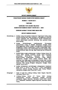 BUPATI BANGKA BARAT PERATURAN DAERAH KABUPATEN BANGKA BARAT NOMOR 1 TAHUN 2014 TENTANG