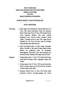 BUPATI BANYUMAS PERATURAN DAERAH KABUPATEN BANYUMAS NOMOR 3 TAHUN 2000 TENTANG BADAN PERWAKILAN DESA (BPD) DENGAN RAHMAT TUHAN YANG MAHA ESA