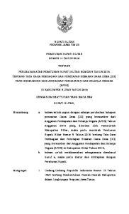 BUPATI BLITAR PROVINSI JAWA TIMUR PERATURAN BUPATI BLITAR NOMOR 14 TAHUN 2016 TENTANG