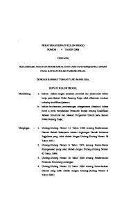 BUPATI KULON PROGO PERATURAN BUPATI KULON PROGO NOMOR : 4 TAHUN 2008 TENTANG