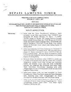 BUPATI LAMJPUNG TIMUR