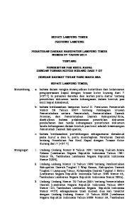 BUPATI LAMPUNG TIMUR PROVINSI LAMPUNG PERATURAN DAERAH KABUPATEN LAMPUNG TIMUR NOMOR 07 TAHUN 2014 TENTANG